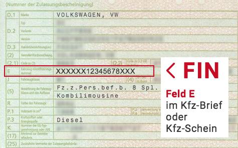 Dieselskandal FIN Nummer