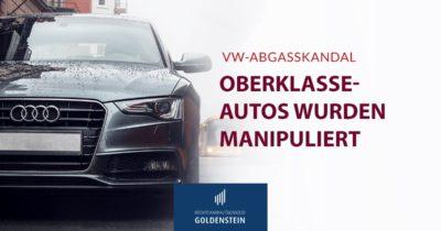 VW Abgasskandal bei Oberklasse-Autos Headerbild
