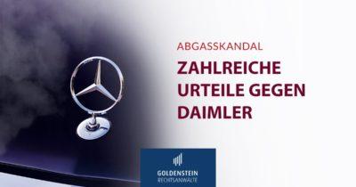 Urteile gegen Daimler im Dieselskandal