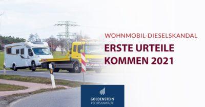 Wohnmobile-Dieselskandal Urteile Headerbild